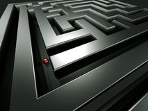 Lost in the maze. 3d illustration Royalty Free Stock Photo