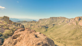 Lost Mine Trail, Chisos Mountains Basin, Big Bend National Park, TX Stock Photography