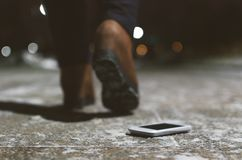 Free Lost Mobile Phone. Royalty Free Stock Photos - 132658628
