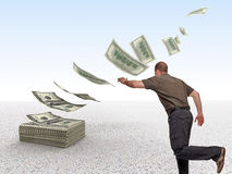 Lost money royalty free stock photography