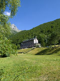 The Lost Mount of Ordesa National Park. Public building in the mountain range of Ordesa in Pirineos Stock Photos