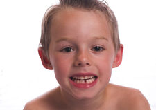 Lost my first tooth Royalty Free Stock Image