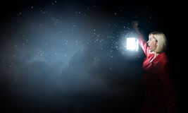 Lost in night Royalty Free Stock Photography