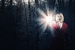 Lost in night Royalty Free Stock Photos