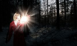 Lost in night Royalty Free Stock Photo
