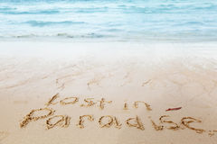 Lost in paradise concept Stock Images