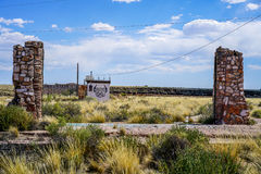 Lost Pillars. A small abandoned town in the Arizona desert with many buildings falling down some full of graffiti it is along historic route 66 and i`m sure if royalty free stock photography
