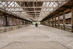 Lost Place, Concourse, Old Royalty Free Stock Photos