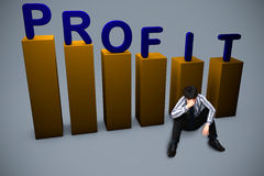 Lost in profit concept Stock Photography