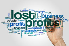 Lost profits word cloud. Concept on grey background Royalty Free Stock Photography