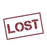 Lost rectangular stamp. Royalty Free Stock Photos