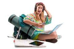 Lost reisendes Mädchen lizenzfreies stockfoto