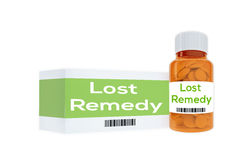 Lost Remedy concept Stock Photos