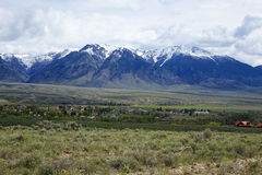 Lost River Mountains - Mackay at Idaho Royalty Free Stock Photos