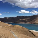 Lost Road. Friendshiphighway is the most amazing road ever. Tibet royalty free stock photo