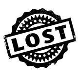 Lost rubber stamp. Grunge design with dust scratches. Effects can be easily removed for a clean, crisp look. Color is easily changed Stock Images
