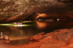 Lost Sea. Underground lake in a cave that has been lost for hundreds of years Stock Photos