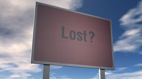 Lost sign Stock Images