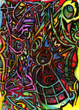 Lost souls and memories. Painting Abstract Art (mother and baby Royalty Free Stock Photos