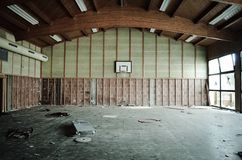 Lost sports hall Royalty Free Stock Images