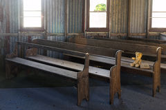 Free Lost Teddy Bear In Abandoned Old Church Stock Photos - 93994743