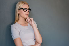 Lost in thoughts. Stock Images
