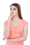 Lost in thoughts. Royalty Free Stock Photography