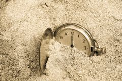 Lost time stock image