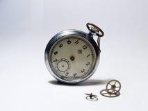 Lost time. Pocket watch, clock, raritet, time, rarity, curiosity, virtu, ancient, arrow Royalty Free Stock Image