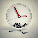 Lost time. Lost time - concept scene illustration Royalty Free Stock Photography