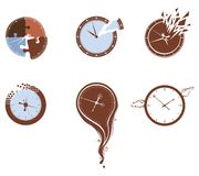 Lost time icon set. Royalty Free Stock Image