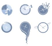 Lost time icon set. Royalty Free Stock Photo