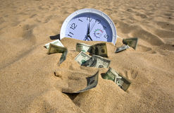 Lost Time and Money Concept Stock Images