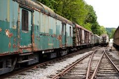 Lost Trains royalty free stock image