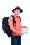 Lost traveler Royalty Free Stock Photo
