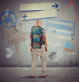 Lost traveler Royalty Free Stock Photos