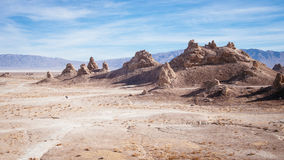 Lost in Trona pinnacles. Two Walkers Stock Images