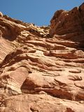 The lost valley.Arava desert. The lost valley (Ge Avud) is narrow canyon from red sandstone in Arava desert. Eilat mountains.Israel Stock Photo