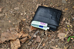 Lost wallet Stock Photography