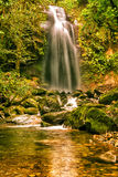 The lost waterfall  near Boquete in Panama. Royalty Free Stock Photography