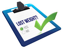 Lost weight yes or no selection Royalty Free Stock Photo