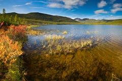Lost World. The sunrise on the Jack London Lake Stock Photography