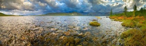 Lost World. The sunrise on the Jack London Lake Royalty Free Stock Images