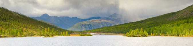 Lost World. The rain on the Lake Dancing Grayling Stock Images
