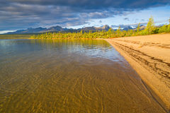 Lost World. Sunrise on the Jack London Lake Royalty Free Stock Images
