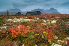 Lost World. The rain on the mountain ridge Big Anngachag Stock Images