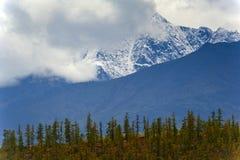 Lost World. The mountain ridge Big Anngachag Royalty Free Stock Photography
