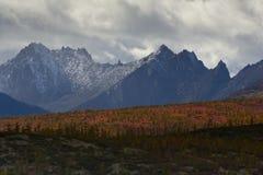 Lost World. The mountain ridge Big Anngachag Royalty Free Stock Photos