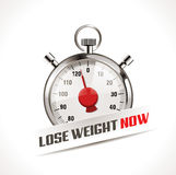 Lost your weight concept. Stopwatch as  body weight scales Royalty Free Stock Photo