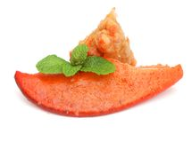 Loster claw food decoration. The loster claw food on white background Stock Photos